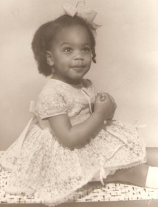 This is me at 18months, pretending to be saintly
